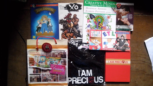 Lampara Classics Tom Sawyer, Pinoy Black Ink X.O., Creative Mind Adult coloring books (a hit these days) Mandalas, Animals, Florals, Patterns, Precious Hearts Romances Walang Hindi Nagmamahal and tokens from Precious Pages:)