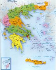 Greece Map Provincial City