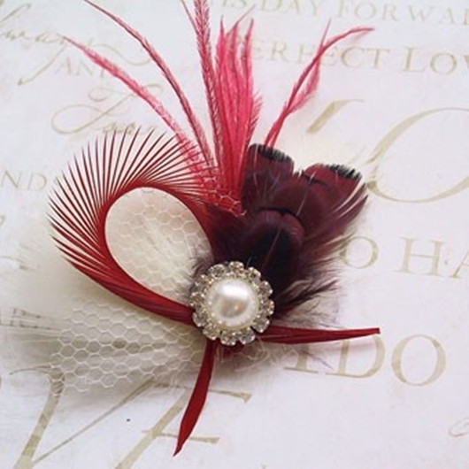 Red wedding boutonniere
