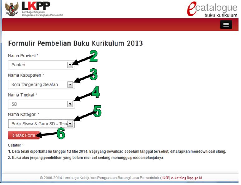 Tahapan Pengisian Di Web LKPP, Tentang pembelian Buku Kurikulum 2013