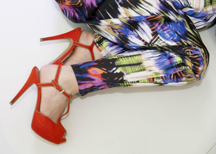 orange highheel c&a fashion