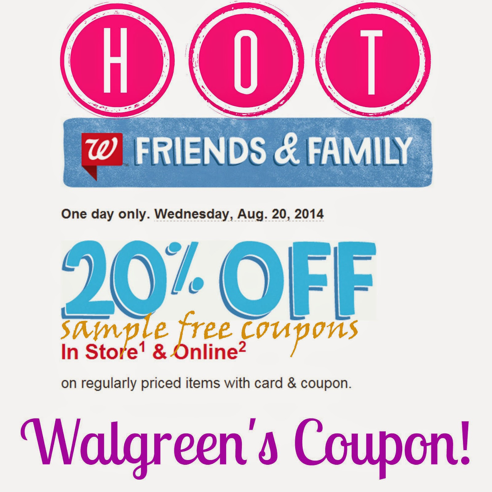 Walgreen coupon code photo
