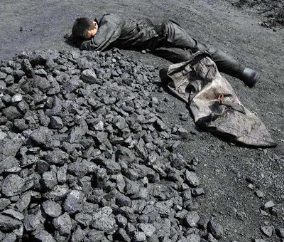 Operário em mina de carvão, Changzhi