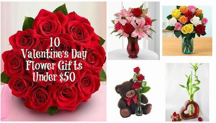 10 Valentines Day Flower Gifts Under 50 Dollars