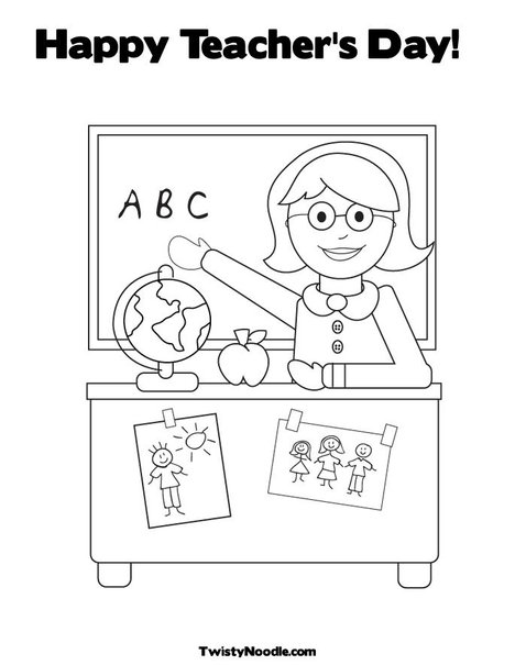 Story For 4ke1 Happy Teacher S Day Teachers Day Coloring Pages