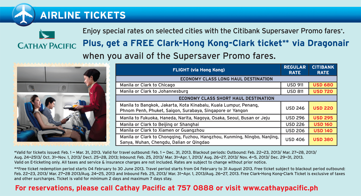 Get the latest travel deals from Citibank 5% Off Regular Fares to Europe with Eva Airways and Citibank.