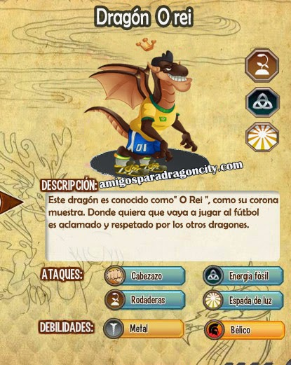 imagen de las caracteristicas del dragon o rei