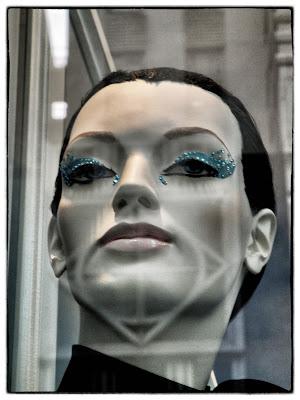 Tribal Shadows, #BGWindows Mannequin Head Shot, Bergdorf's, NYC
