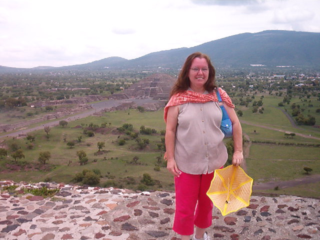 Atop the Pyramid of the Sun at Teotihuacan, Mexico