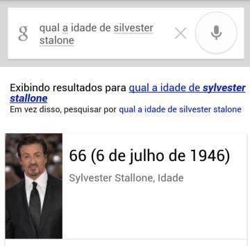 Qual a idade do Sylvester Stallone?
