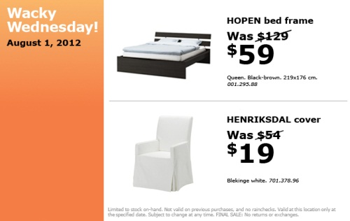 Outstanding IKEA Calgary : Hopen bed frame $59 (Was $129), Henriksdal cover $19  500 x 316 · 34 kB · jpeg