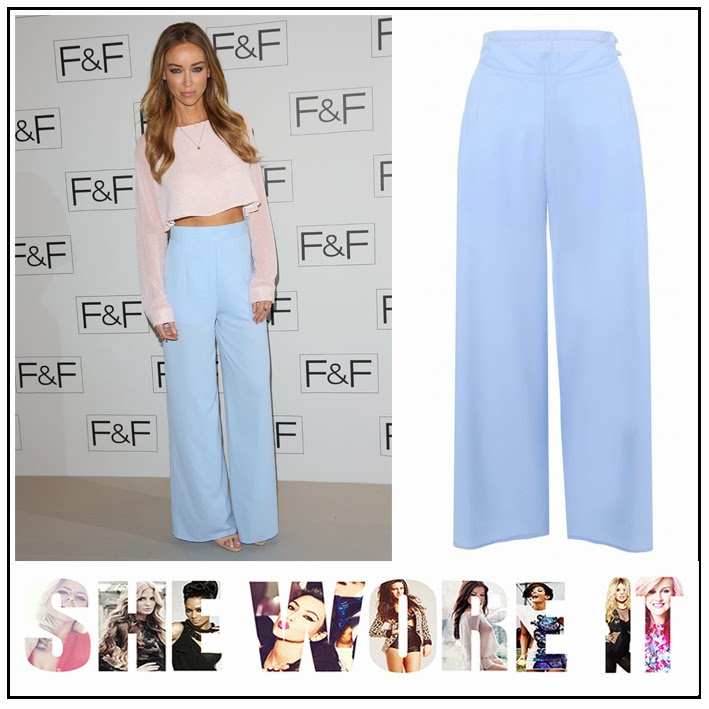 High Waisted, In love with Fashion, Lauren Pope, Palazzo, Pastel, Powder Blue, TOWIE, Trousers, Wide Leg, F+F, Event, London, Party