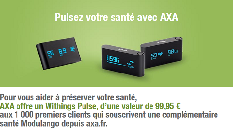 Axa et Withings Pulse