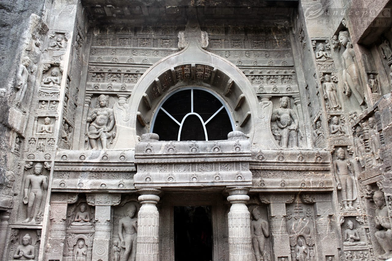 Exquisite facade of the Cave 19