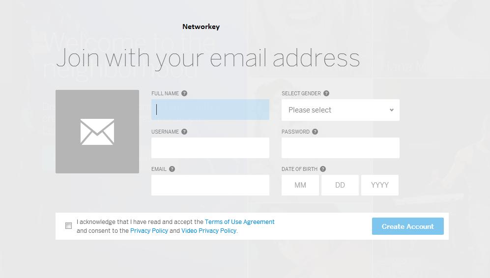 Iscrizione Mail Myspace