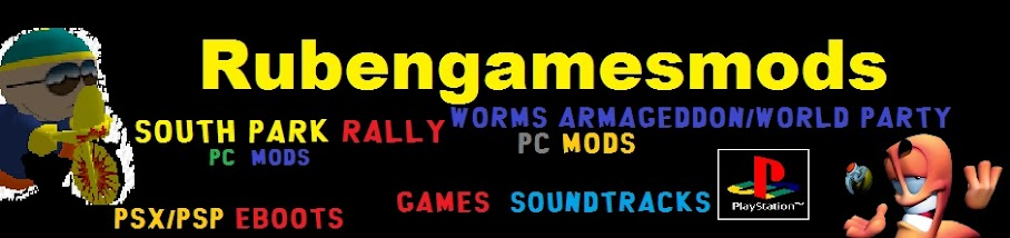 South Park Rally PC MODS; Game Soundtracks and PSX to PSP Eboots