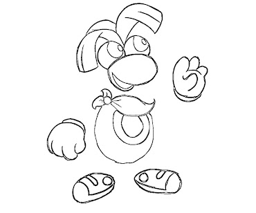 #2 Rayman Coloring Page