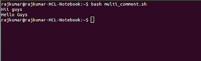 multi line comment in shell script