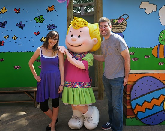 Sally at Knott's Berry Farm on Easter