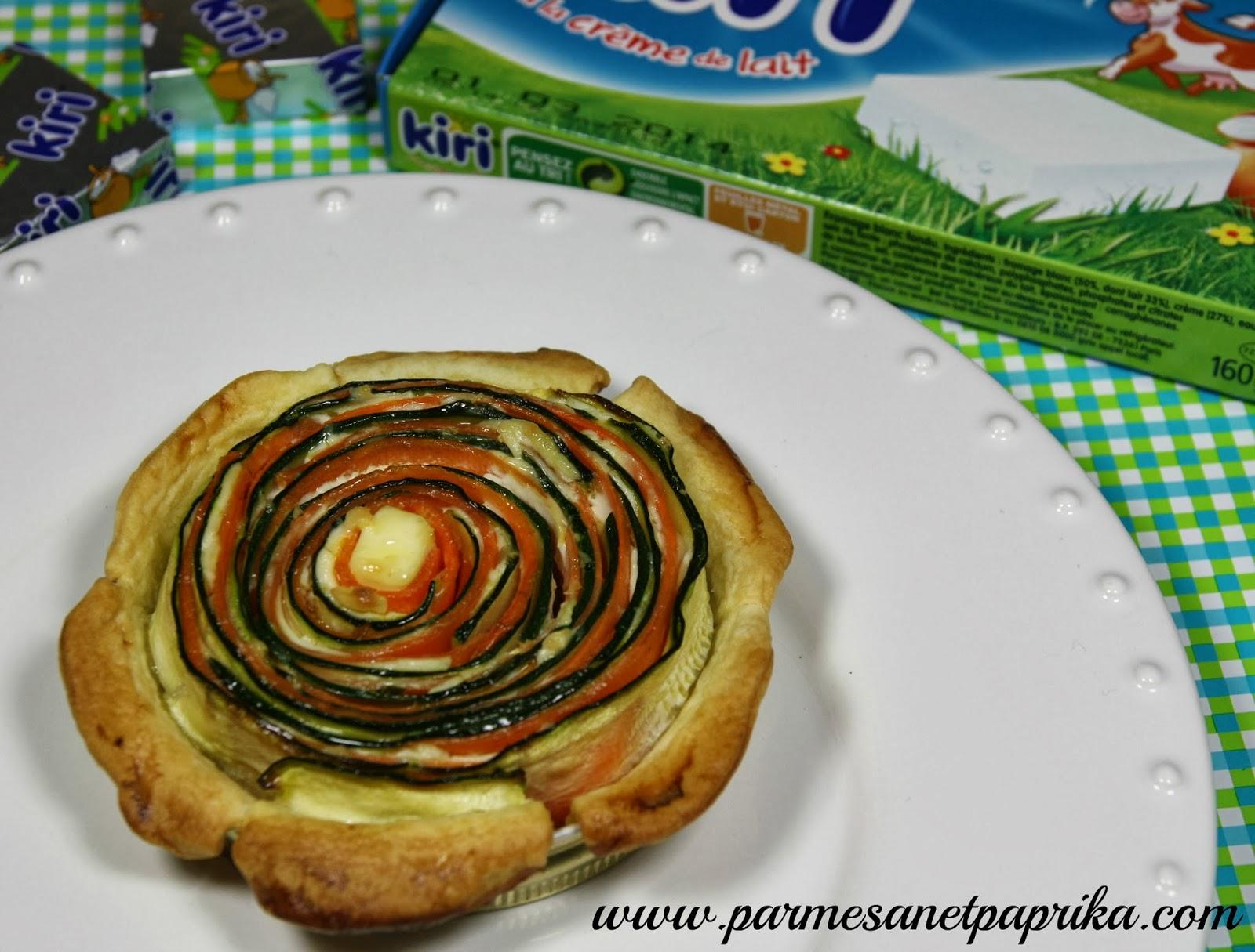 Quiche courgette, carotte, Kiri® pour Nos-Bel-Idées et un concours ! | Parmesan et Paprika