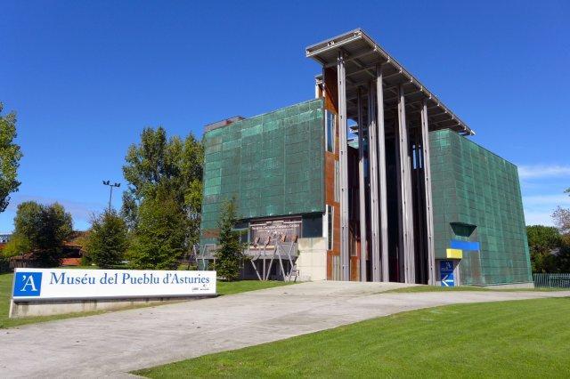 Pabellon de Asturias en la Expo 92 de Sevilla, hoy parte del Museo del Pueblo de Asturias en Gijon