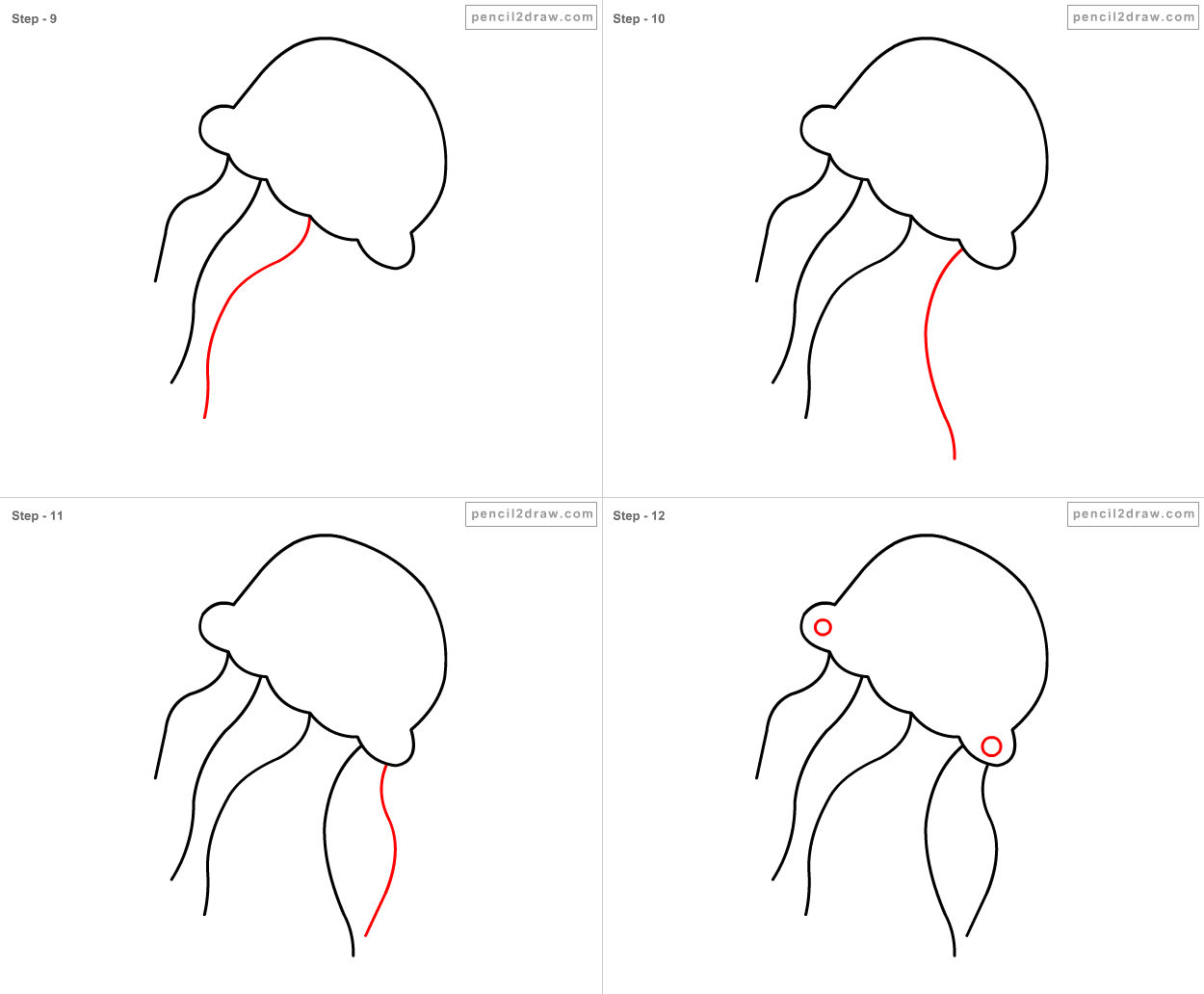 How To Draw A Jellyfish Step By Step For Kids Photo#8