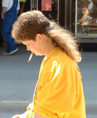 Woman with Mullet