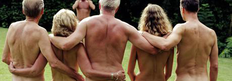 Young nudist naked