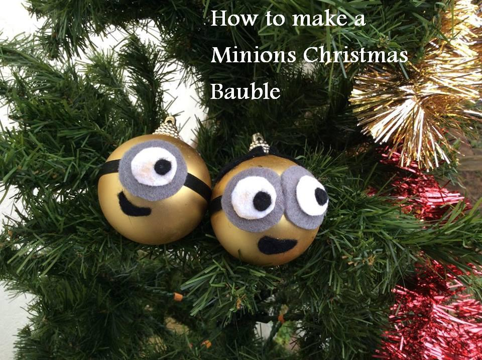 how to make a simple minions christmas bauble - Minions Christmas Tree