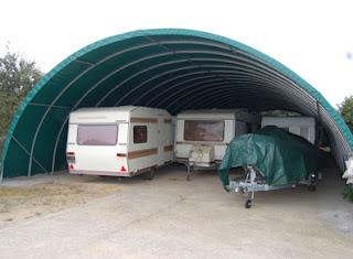 Garages camping car metal bois et pvc for Garage tunnel metallique