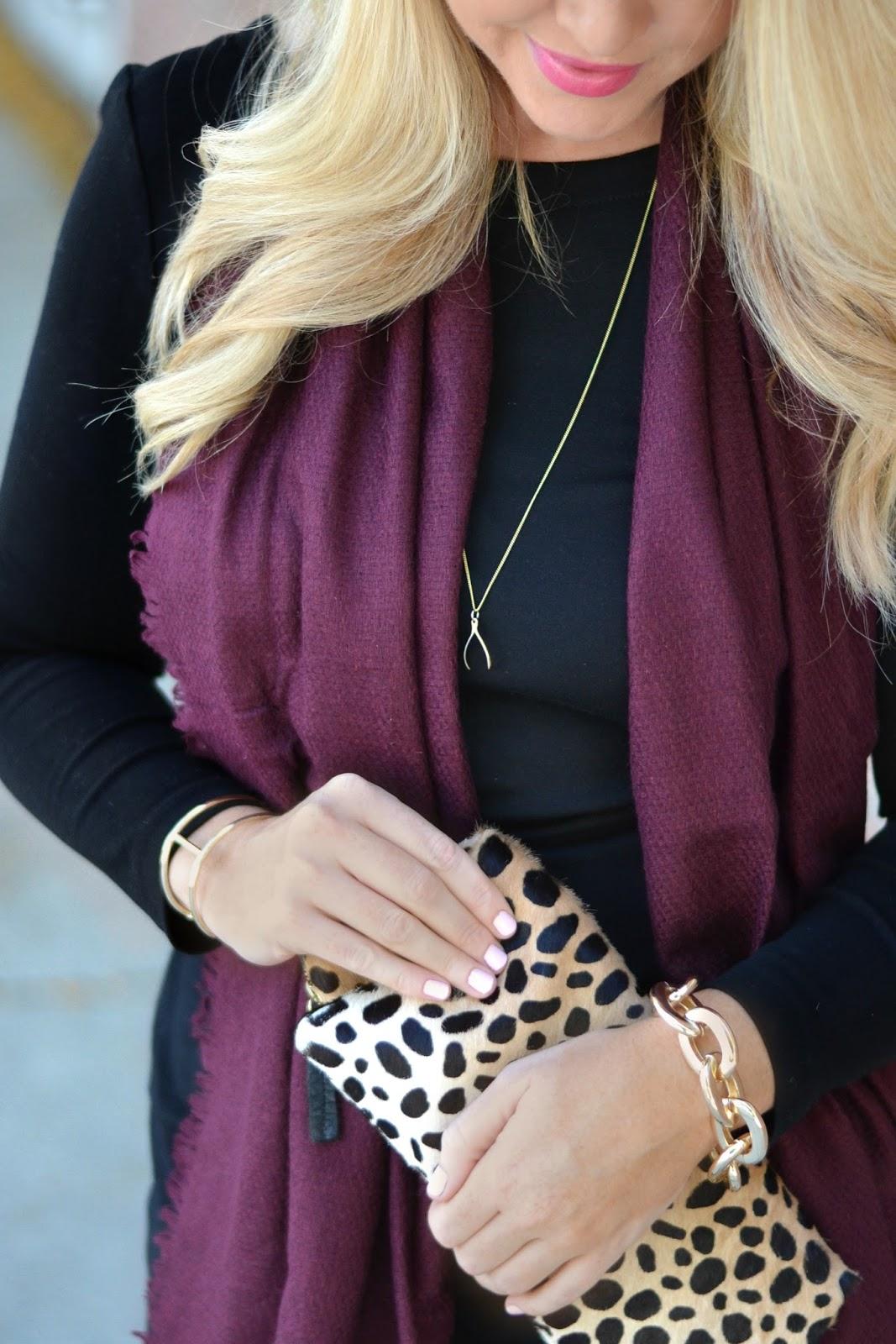 clare-v-leopard-clutch-and-essie-fiji-nail-polish