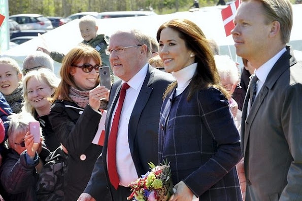 Crown Princess Mary of Denmark attended the opening of the new tourist attraction Little Belt Bridge on May 10, 2015 in Copenhagen, Denmark.