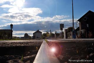 La voie ferrée, la gare