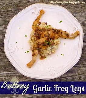 Buttery Garlic Frog Legs over Crawfish Boil Mashed Potatoes | Ms. enPlace