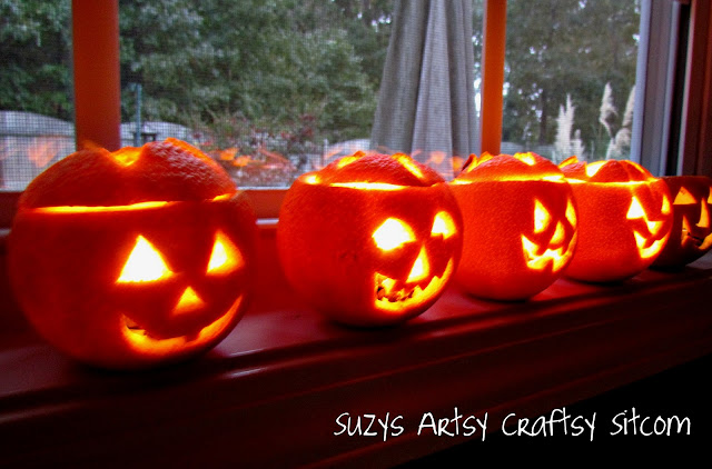 halloween crafts: scented jack o lantern tealights