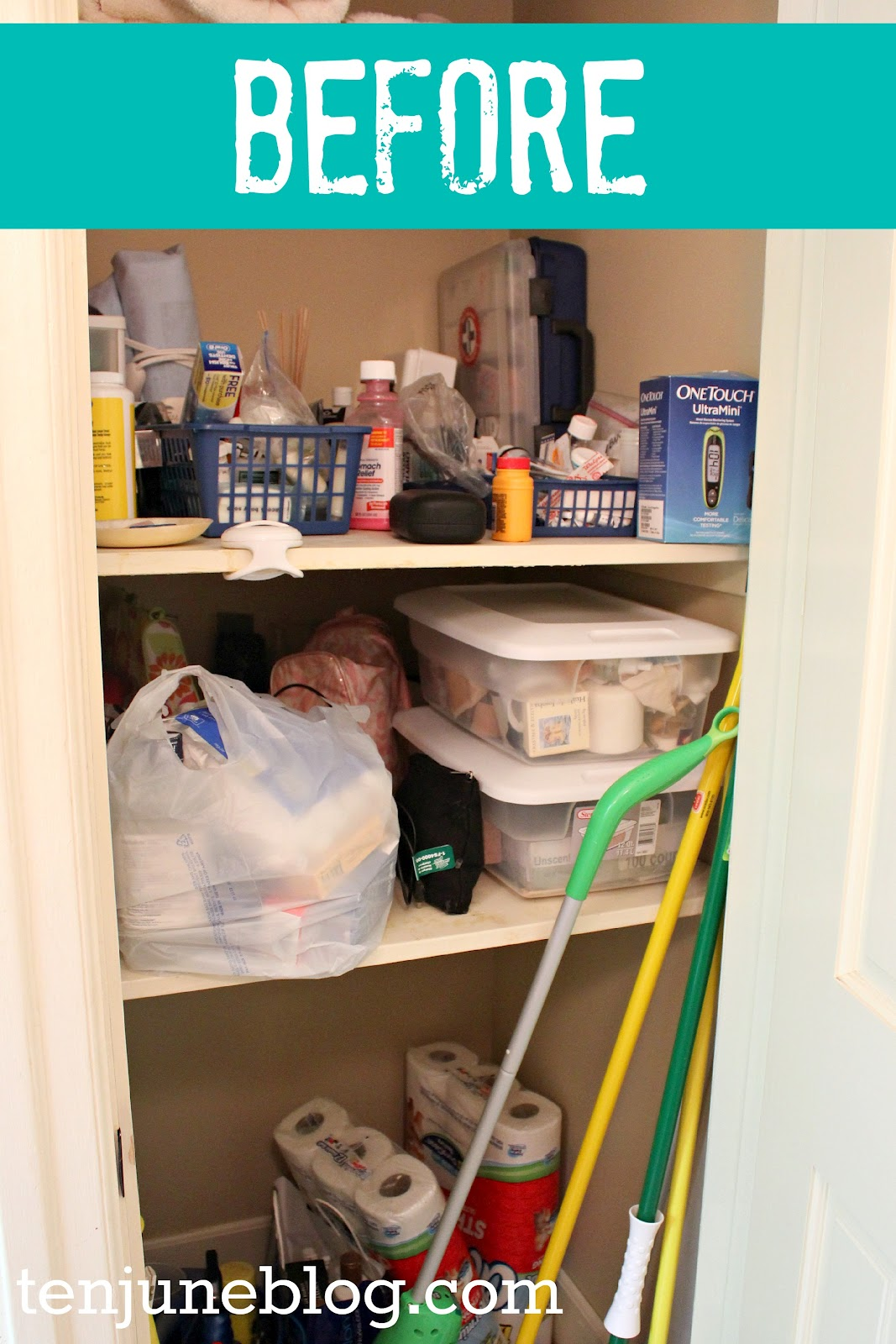 Bathroom closet organizer