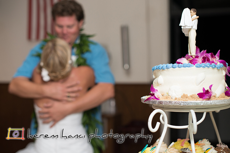 After the couple cut the cake, they had a little moment to themselves.
