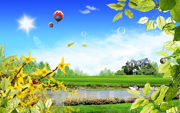 3D Beautiful Scenery HD Wallpaper