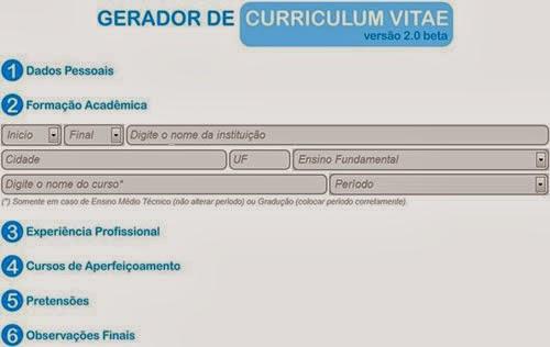 Fazer novo currículo 2014 fácil e grátis pela internet