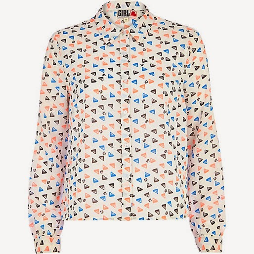 triangle print shirt