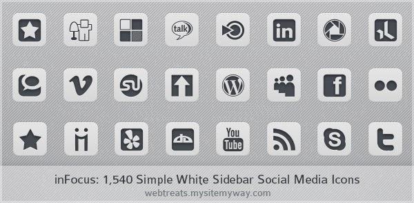 Simple White Icon Set