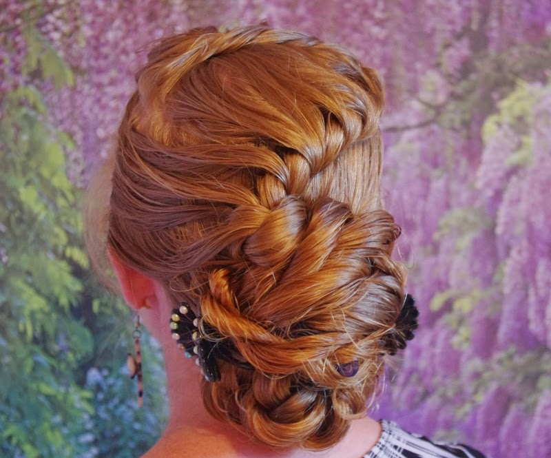 Braids & Hairstyles for Super Long Hair Rope Braid Updo ...