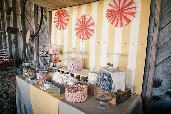 some extremely beautiful and creatively decorated candy buffet tables