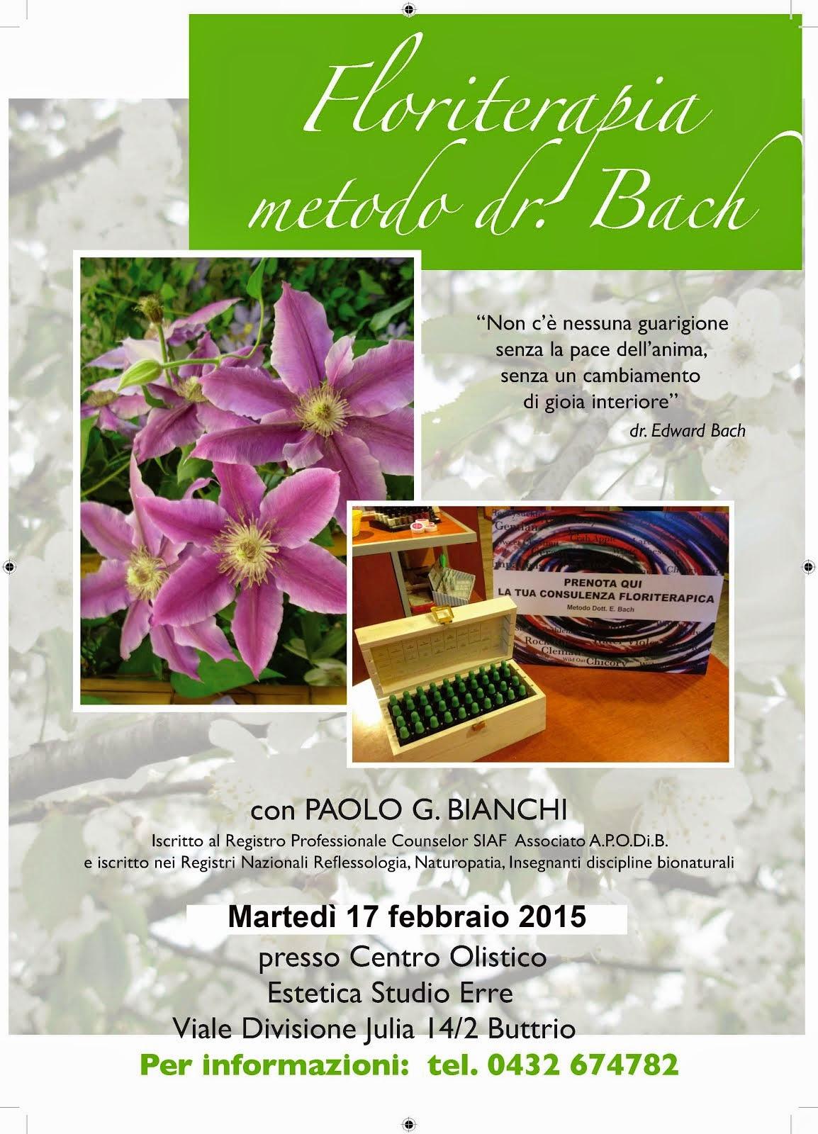 EVENTI: Floriterapia a Buttrio (UD)