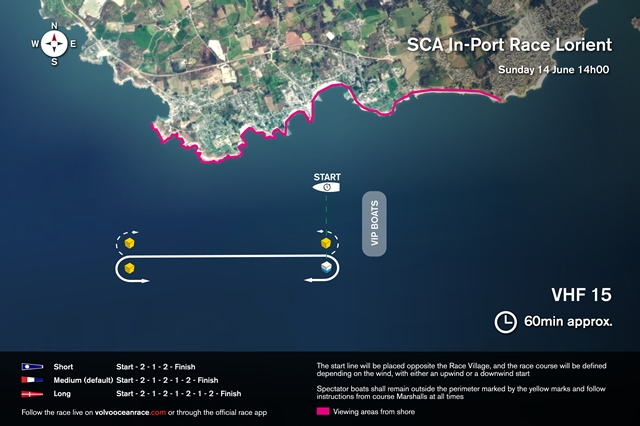 Map graphic: Volvo Ocean Race In-Port Race Sunday, Lorient, France