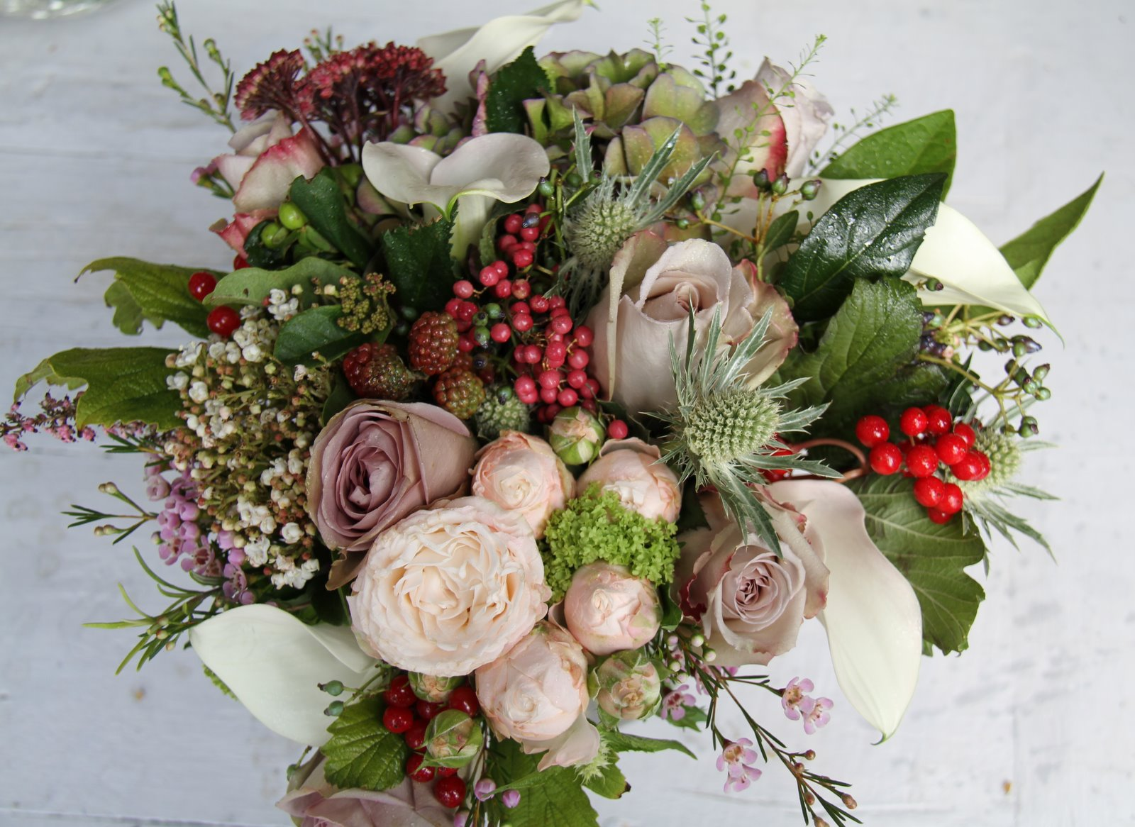 The Flower Magician English Autumn Wedding Bouquet