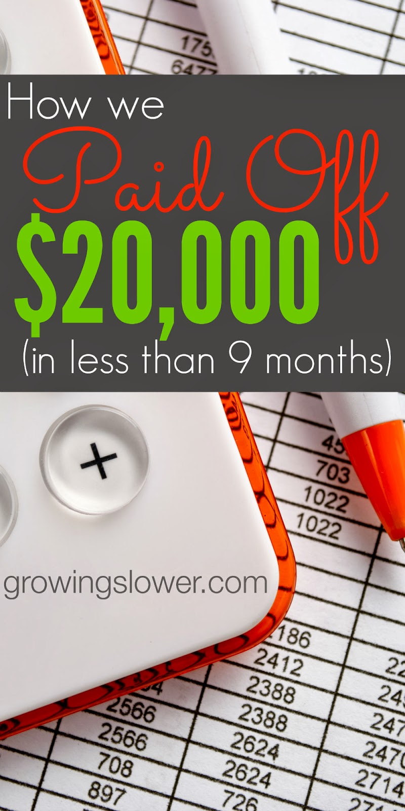 The story of how one family paid off over $20k ($22,047.93 to be exact!) in less than 9 months on one income, plus 9 crazy things they did to be debt free. www.growingslower.com #debtfree #frugalliving