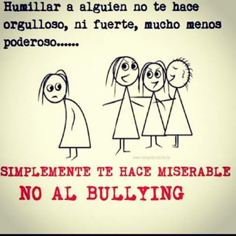 ¡No al bullying!
