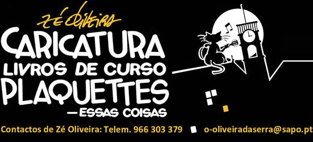Caricatura Livros de Curso Plaquetes Zé Oliveira
