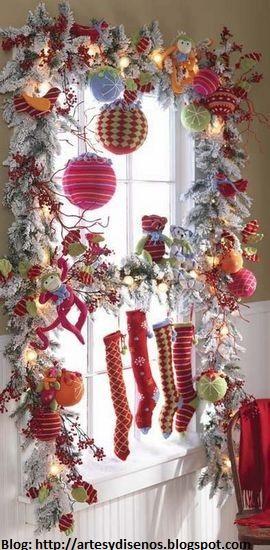 Decoracion De Ventanas Exteriores Para Navidad ~ COMO DECORAR VENTANAS PARA NAVIDAD by artesydisenos blogspot com